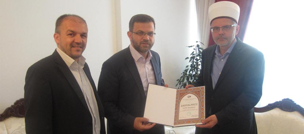 Sarajevski muftija dodijelio zahvalnicu CLPU